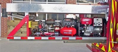 Rescue Ram,  Hydraulic Pump, Air Compressor and Generator